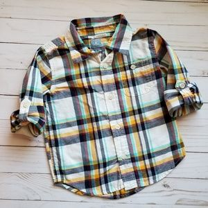 Gap, Plaid Button Down Shirt, Size 3T